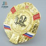 Jiaboは真鍮の物質的な青銅色カラーに薄い円形浮彫りをした