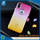Coperchio del telefono di colore TPU del Rainbow per il iPhone 8