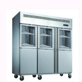 6 нержавеющая сталь двери ресторана оборудование кухня охладитель морозильник холодильник