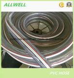 Boyau renforcé en plastique de pipe de débit de l'eau de fil d'acier de PVC