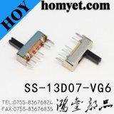 Продает трехпозиционные переключатель скольжения 1p3t/тумблер оптом с типом DIP (SS-13D07)