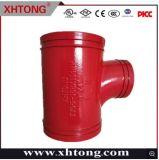 1 Réduire Pitcher Tee---Raccords de tuyauterie en fonte ductile rainuré---FM/UL/EC