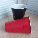 copo de solo PP do vermelho plástico descartável de 14oz 425ml