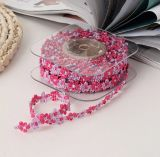 Fibre acriliche poco merletto di disegno del fiore per la decorazione