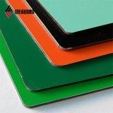 Philippines Hotsales PE le revêtement intérieur vert panneau composite aluminium (AE-35F)