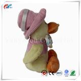 Giocattolo dell'anatra farcito Custoized di modo con l'uso del legame di arco e del cappello