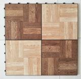 Nuevo diseño del baile de enclavamiento Baldosa mosaico de madera para el hogar pisos de vinilo