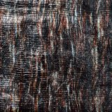 Carimbo de ouro do calor bronzeando a tela do couro artificial para sapatas dos sacos