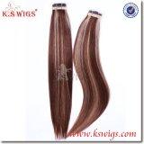 Haire Extensions-menschliches Jungfrau-Haar auf Band aufnehmen