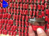 1/4 in. 스테인리스는 소형 공 벨브 (빨간 레버) 여성 스레드 끝을 위조했다