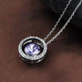 方法模造白い金の円形の吊り下げ式の宝石類のネックレス