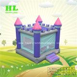 Фиолетовый благородных замок надувной прыжком Bouncer для детей
