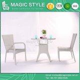 Ensemble de salle à manger en plein air en rotin chaise de salle à manger Salle à manger Jardin patio rotin ensemble chaise empilable de tissage en osier Président