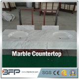 Marmo della Cina per le parti superiori di vanità della stanza da bagno con il trattamento facilitato del bordo nei progetti