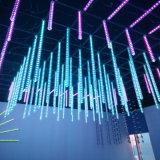Vertical de 360 grados de meteoros de LED RGB DMX colorida luz del tubo de nieve