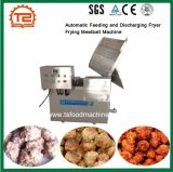 L'alimentation automatique et de déchargement de friteuse Meatball machine de cuisson