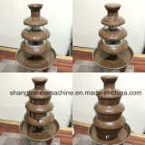 4tier fontaine de chocolat en acier inoxydable, Commercial fontaine de chocolat pour la vente de la machine