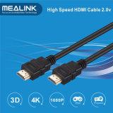 2.0 Ficha de duas cores do cabo HDMI (suporte 3D 4Kx2K HDTV 1080P)