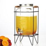 최신 인기 상품 4L/5L/8L 유리제 음료 주스 석수 유리 분배기
