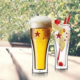 二重壁のビールのジョッキビールガラスビールコップ
