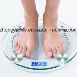 ブルースクリーンのバックライトの標準的な円形2003Aのガラス重量の体重計の美ボディスケール
