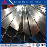 Tubo d'acciaio rettangolare inossidabile di Tp 304 con buona qualità