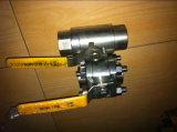 robinet à tournant sphérique fileté par acier modifié par 3PC de flottement (GQ11F)