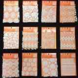 미색 럭스 웨딩 드레스를 위한 꽃 연속 레이스 직물 보히미아 작풍