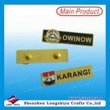 Unbelegtes magnetisches Namensabzeichen-Metallnamensabzeichen mit Firmenzeichen-Drucken