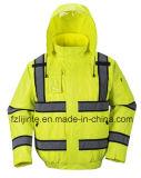 Куртки безопасности видимости зимы Workwear высокой отражательный