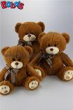 Peluche bege Brown Beasr do luxuoso dos brinquedos frescos com o lenço da cópia do leopardo no preço de grosso