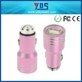 Universal promotionnel 5V 2.1A Stainless Steel Mini Dual USB Car Charger
