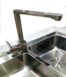 Empuñadura Vertical, simple, grifo de cocina y un mezclador de bronce