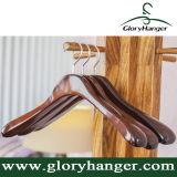 Le luxe épaulement large manteau vêtement Hanger avec finition rétro