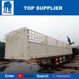 Het Voertuig van de titaan - Flatbed Aanhangwagen met Grill in de Aanhangwagen van de Vrachtwagen
