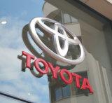 Sinais personalizados do logotipo do cromo plástico ao ar livre auto