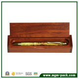Marrón de promoción único cuadro de lápiz de madera para almacenar