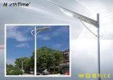 Capteur PIR Rue lumière solaire avec la durée de vie 25ans panneau solaire