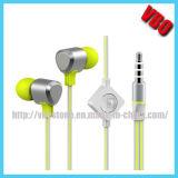 Écouteurs à la mode de câble plat pour la musique