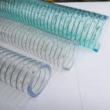 PVC屈曲のばね鋼鉄補強水ダクトホースの管