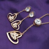 Manier de Reeks van de Juwelen van Dame Night Party Heart Shaped Kristal
