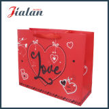 Подгоняйте с мешком подарка покупкы дня Valentine «влюбленности» яркия блеска бумажным