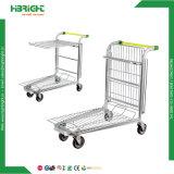 Carrello del carrello di trasporto di carico della piattaforma del magazzino delle 4 rotelle