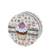 Пользовательские и оптовых Handmake Cookie печенье Тин, большие круглые подарок Тин, подарок ящик для хранения, канистры высокого класса с великолепным видом из моделей
