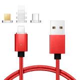 Magnetische het Laden van het Micro- USB Type C van Kabel 2.4A Kabel voor iPhone 8 X 7 6 6s 5s plus de Nota van Samsung Gaxaly S8