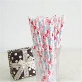 Los artículos decorativos colorido al por mayor pajas de beber de papel