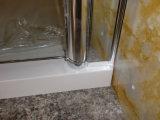 Fábrica de la esquina de China de sitio de ducha del vidrio del pivote 8m m del cuarto de baño