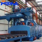 China tipo rolete Granalhagem máquina para limpeza de chapa de aço