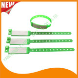 Hospital Insert Card Custom Vinyl Plastic Wristbands Bracelet Bands (6060A10)