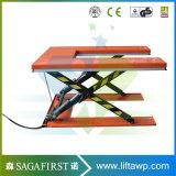 1ton table élévatrice fixe de ciseaux de forme du profil bas U